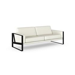 machalke® 3-Sitzer frame, Ledersofa mit Kufe in Schwarz weiß