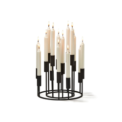 PHILIPPI Kerzenleuchter Philippi Illuminati Kandelaber Set 2tlg Kerzenhalter schwarz