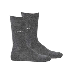 Joop! Kurzsocken Herren Socken 2 Paar, Basic Soft Cotton Sock grau 39-42 (6-8 UK)