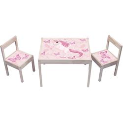 STIKKIPIX Möbelfolie KA01, Einhorn Aufkleber - (Möbel Nicht inklusive) - Möbelsticker passend für die Kindersitzgruppe LÄTT von IKEA