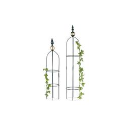 relaxdays Rankhilfe Rankhilfe Obelisk 2er Set