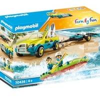 Playmobil Family Fun Strandauto mit Kanuanhänger