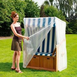 Heinemeyer Schutzhülle für Strandkorb 140x100x168/137cm, Gitterfolie transparent Weiß