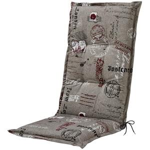 GO-DE Hochlehner-Auflage  Stamp ¦ grau ¦ 85% Baumwolle, 15% Polyester ¦ Maße (cm): B: 50 H: 7
