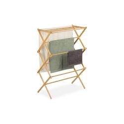 relaxdays Handtuchhalter Handtuchhalter aus Bambus ausziehbar