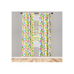 Gardine Vorhang für Wohnzimmer Schlafzimmer Dekor, Abakuhaus, Ostern Gruß Frühlingsurlaub 150 cm x 175 cm