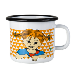 Muurla 'Hier kommt Pippi' Tasse 25 cl Emaille Orange