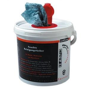 Wiper Bowl feuchtes Reinigungstuch, im Spendereimer, Format: ca. 25 x 25 cm, 1 Karton = 6 Eimer à 72 Polytex-Tücher