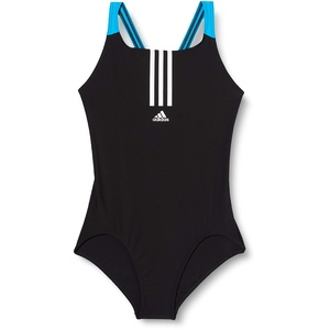 adidas Kinder Badeanzug YG FIT Swimsuit, Negro/Blanco, 104, FL8675