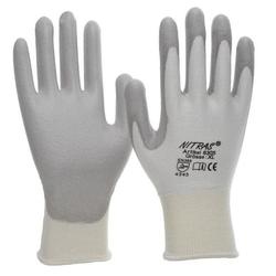 NITRAS D.-Handschuhe PU weiß-grau VE 100 Paar