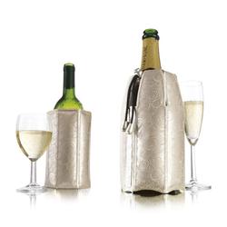 VACUVIN Wein- und Sektkühler Wein-& Champagnerkühler Set Platin, für Wein & Champagner