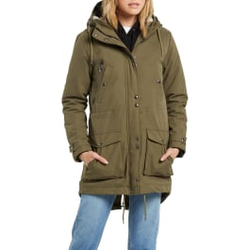 Volcom - Walk On By 5K Parka Olive - Jacken - Größe: S
