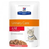 Hill's Prescription Diet Feline c/d Urinary Stress Lachs 12 x 85 g
