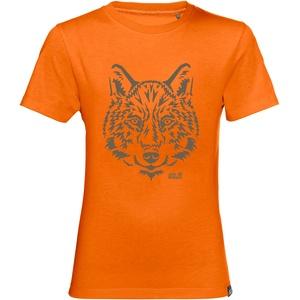 Jack Wolfskin Brand T-Shirt Glowing orange 128