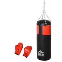 Homcom Boxsack mit Boxhandschuhen