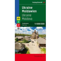 Ukraine - Moldawien Autokarte 1:1 Million