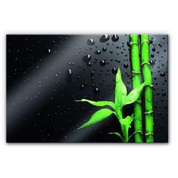 Küchenrückwand Spritzschutz Bambus Bamboo, (1-tlg) 80 cm x 60 cm x 0,4 cm
