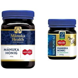 Manuka Health - Manuka Honig MGO 400+ 500g - 100% Pur aus Neuseeland mit zertifiziertem Methylglyoxal Gehalt & - Manuka Honig MGO 250+ (250 g)