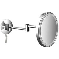 Frasco LED-Lichtspiegel LED Wand-Kosmetikspiegel, Ø 203 mm, Direktanschluss/Spiralkabel, 3-fach, Unterputz / Direktanschluss silberfarben