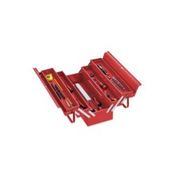 relaxdays Werkzeugkoffer Werkzeugkoffer leer rot