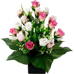 Kunstpflanze Rose, I.GE.A., Höhe 38 cm, im Topf