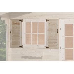 Weka Fensterladen 2-Seitig, für Fenster 91 x 91