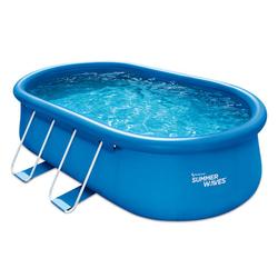 Summer-Waves-Pool, oval, blau