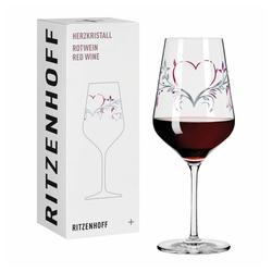 Ritzenhoff Rotweinglas Herzkristall Rotwein 001, Kristallglas, Made in Germany bunt