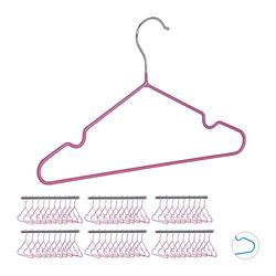 60 x Kinderkleiderbügel Drahtbügel Baby Kleiderbügel Metallbügel Kinderbügel pink