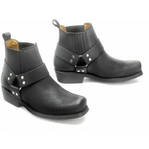 Western Kurzstiefel Boots Cowboy Biker Stiefellette Leder Stiefel Schwarz 36- 48