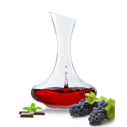 Sendez Dekanter Weinkaraffe 1,5 Liter Dekantier Glaskaraffe Karaffe Glas