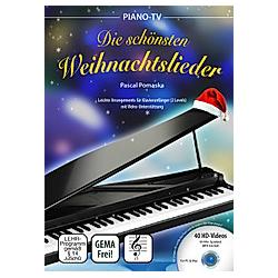 Piano-TV: Die schönsten Weihnachtslieder  m. 1 DVD-ROM. Pascal Pomaska  - Buch