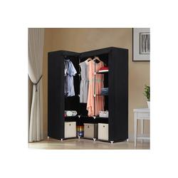 SONGMICS Kleiderschrank LSF42H Eck-Kleiderschrank, Stoffschrank, schwarz