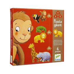 DJECO Puzzle Riesen-Puzzle Dschungel, 36 Teile, Puzzleteile