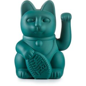 Donkey Products - Lucky Cat Green - grüne Winkekatze   Japanische Deko-Katze in stylischem matt-Farbton 15cm groß