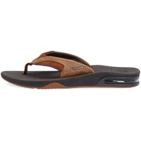 Reef Herren Leather Fanning Flipflop, BRZ, 36 EU