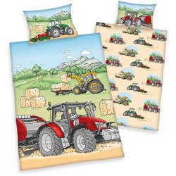 Babybettwäsche Traktor, mit tollem Traktor-Motiv