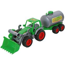 Farmer Techn Traktor + Frontschaufel+Fassanhänger