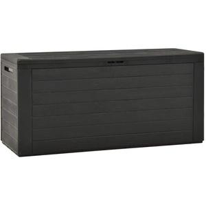 vidaXL Gartenbox Auflagenbox Gartentruhe Kissenbox Truhe Aufbewahrungsbox Gartenmöbel Garten Box Kissentruhe Auflagenkiste Anthrazit 116x44x55cm 290L