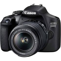 Canon EOS-2000D Digitale Spiegelreflexkamera EF-S 18-55mm IS II 24.1 Megapixel Schwarz Optischer Suc