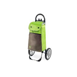 linovum Einkaufstrolley Moderner Einkaufstrolley ESANA grün mit Kühlfach & extragroßen, abnehmbaren Rädern