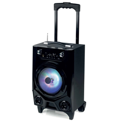 Soundlogic Bluetooth LED Lautsprecher-Trolley, schwarz