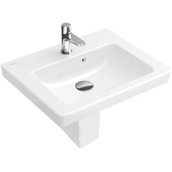 Villeroy & Boch Handwaschbecken SUBWAY 2.0 450 x 370 mm, mit Überlauf pergamon