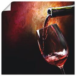 Wandbild »Wein - Rotwein«, Bilder, 21379053-0 rot 30x30 cm rot