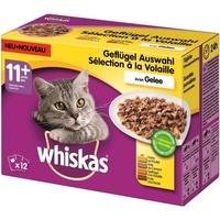 Whiskas 11+ Geflügelauswahl in Gelee 12 x 100 g