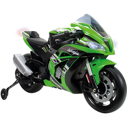 Elektro-Motorrad Kawasaki Ninja, mit Licht & Sound, 12V