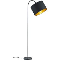 my home Stehlampe JOSIE, Stehleuchte mit flexiblem, schwenkbaren Schirm schwarz