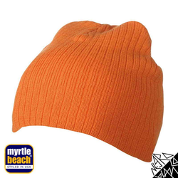 Rib Beanie | Myrtle Beach orange