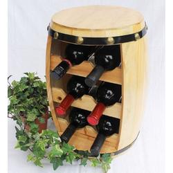 DanDiBo Weinregal Weinregal Holz Weinfass Fass 42 cm Nr.1511 Flaschenständer Regal Naturlack
