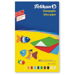 Glanzpapier 232 M/10 30x18cm 10 Blatt farbig sortiert